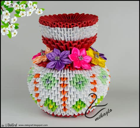 origami in 3d tutorial origami 3d flower vase tutorial mikaglo blogspot com