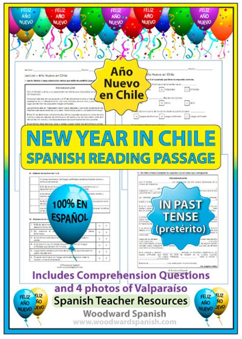 new year passage and questions new year in chile reading and photos