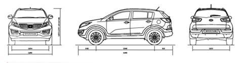 Kia Sportage Dimensions by Kia Sportage All New Awd Suv