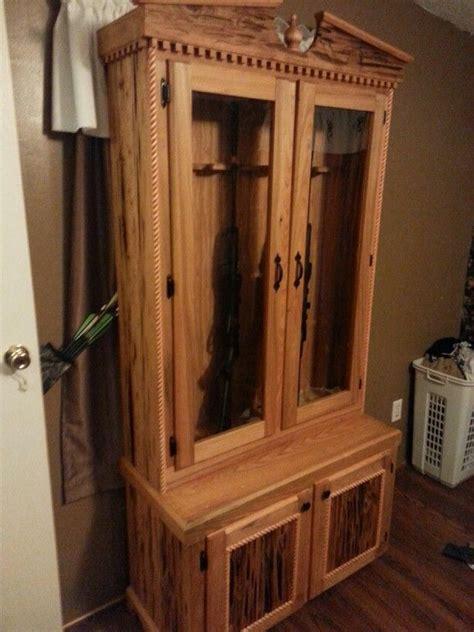 Barnwood Gun Cabinet by Peck Cypress Gun Cabinet Barn Wood