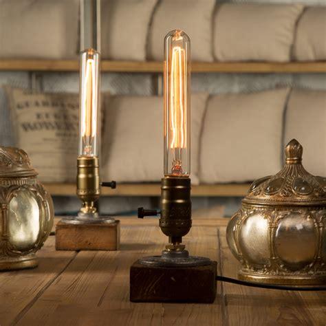 Bulb Holder For Table L by Loft Vintage E27 Holder Edison Bulb Table L Wood Base