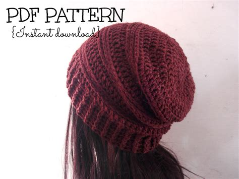 pattern crochet beanie ribbed slouchy beanie crochet pattern crochet and knit