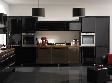 black kitchen cabinets design ideas home trendy