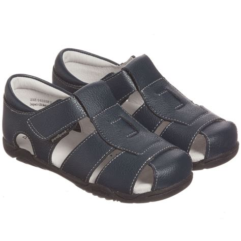 boys navy sandals pediped flex 1 12yr boys navy blue leather sandals