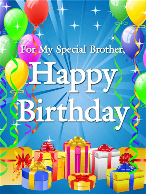imagenes happy birthday brother to my special brother happy birthday card birthday
