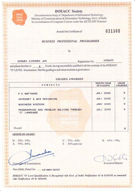 Mba Certificate Format by Mba Certificate Format Sle Choice Image Certificate