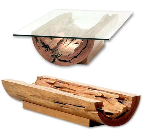 coffee tables made from tree trunks rascalartsnyc