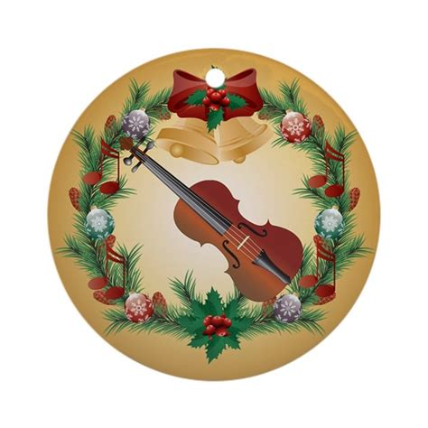 violin holiday christmas ornament by milestonesmusic
