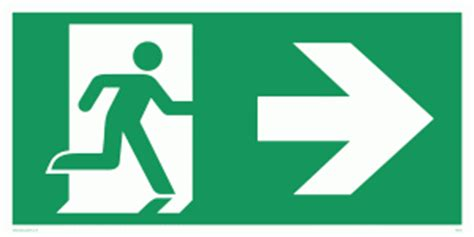 Double Height Ceiling by Arrow Right Amp Running Man Symbol Only From Safety Sign