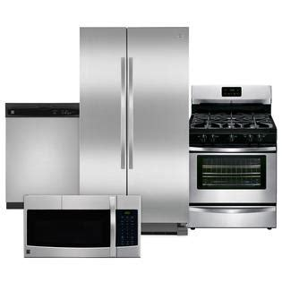 kenmore kitchen appliance packages kenmore kenmore 4 piece kitchen package stainless steel