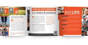 top church welcome brochure templates images for pinterest