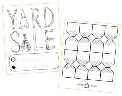 printable price tags for yard sale kanelstrand printable poster and price tags for your