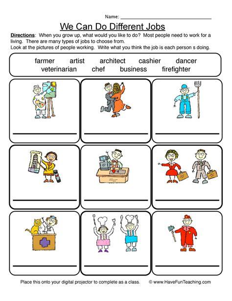 Hairstyle Helper Tools by Community Helpers Worksheet Teaching