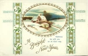 flashback fridays vintage new year s postcards a bright new year card miss celebration