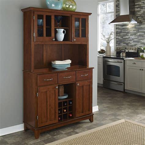 shop home styles medium cherry rectangular china cabinet