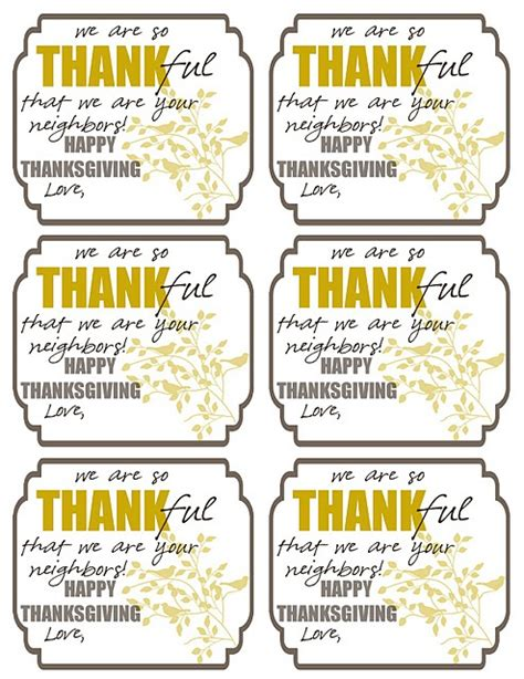 printable gift tags for neighbors neighbor gift tags holidays thanksgiving pinterest