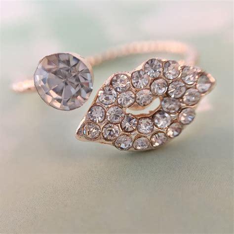 fashion rings rhinestone jewelry