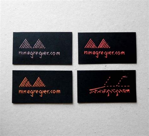 Embroidery Business Card Template Illustrator by Embroidered Business Cards And Artwork By Gregier