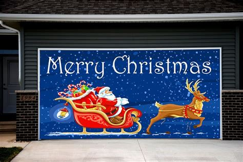 merry christmas garage door cover 38 best decorations for garage door images on carriage doors garage doors