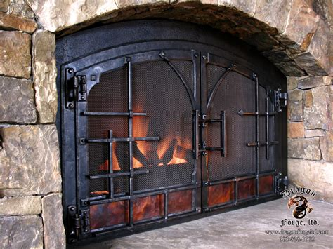 Fireplace Ders by Forged Fireplace Doors With Forged Set And Copper