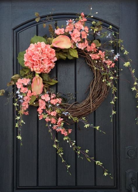 spring wreaths for door spring wreath summer wreath floral white green branches