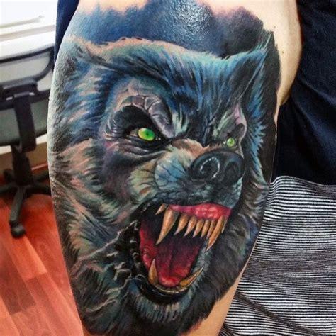 80 werewolf tattoo designs for men full moon folklore