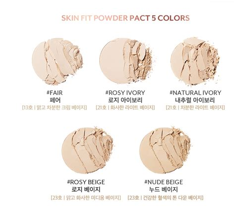 Rosy Ivory Skin Fit Powder Pact testerkorea trend setter from korea