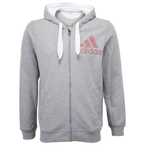 adidas performance mens climalite zip hoodie jumper sweater hoody top