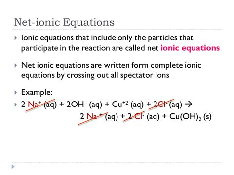 ionic tutorial with exles net ionic equations ppt download