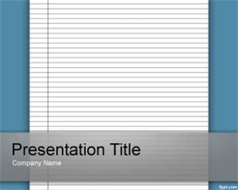 Templates For Paper Presentation | lined paper template for powerpoint