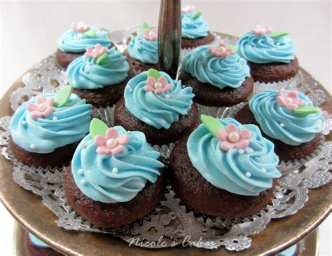 mini cupcakes confections cakes creations something blue mini