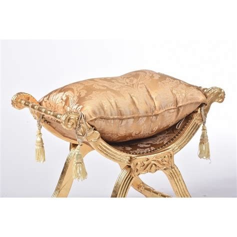 sedie savonarola savonarola sedia poltrona oro e tessuto dorato fiori cuscino