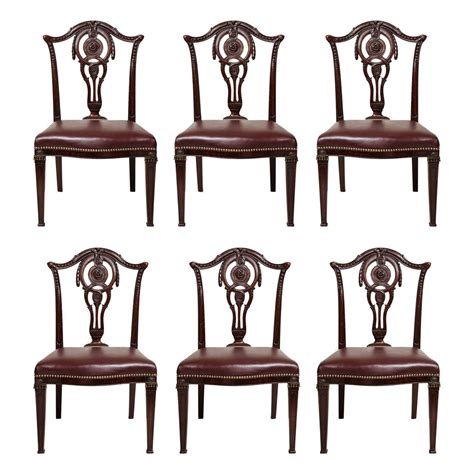 French Country Dining Room Set Set Of Six English Neoclassical Dining Chairs At 1stdibs