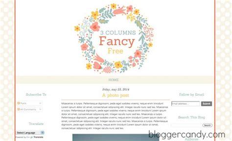 fancy free 3 columns super cute floral blogger template