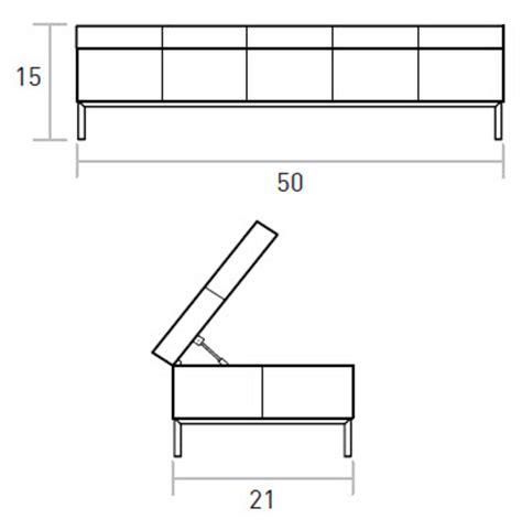 ottoman dimensions gus modern henry storage ottoman smart furniture