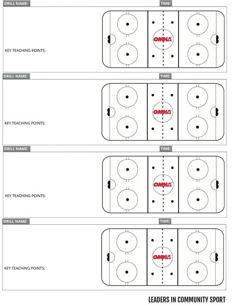 blank hockey practice plan template gallery templates