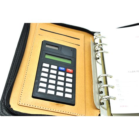 Sale Buku Catatan Binder Note Cover Kulit With Kalkulator Buku Catatan Binder Note Cover Kulit With Kalkulator