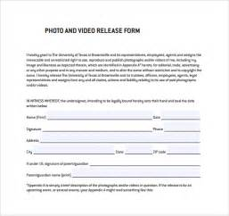 simple photo release form template sle release form 8 free documents in pdf word