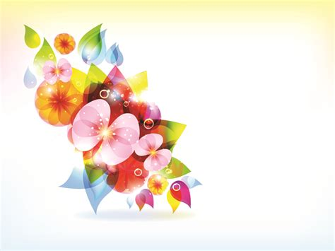 Multi Color Ppt Backgrounds Page 3 Of 5 Colorful Flowers Drawing Colorful Flower Backgrounds For Powerpoint Templates