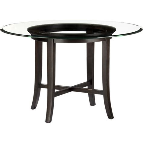 halo dining table with 48 quot glass top