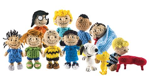 Home Made Decorations For Christmas the peanuts gang is back as a cast of crocheted