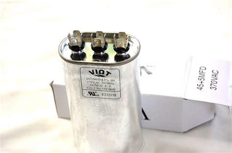 furnace fan capacitor test dual capacitance 45 5 ufd compressor furnace blower fan motor run capacitor oval 370v ul hvac