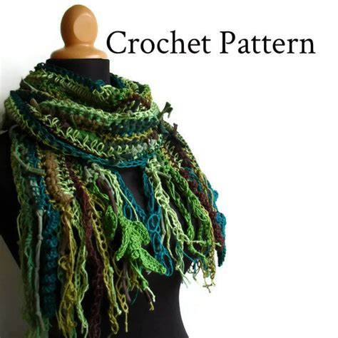 crochet pattern for scarf rag scarf by