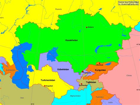 central asia map central asia map with cities driverlayer search engine