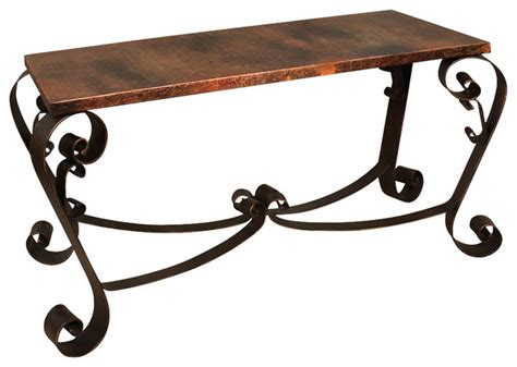 iron sofa table base artisan home mallorca ifd360sofa sofa table with copper