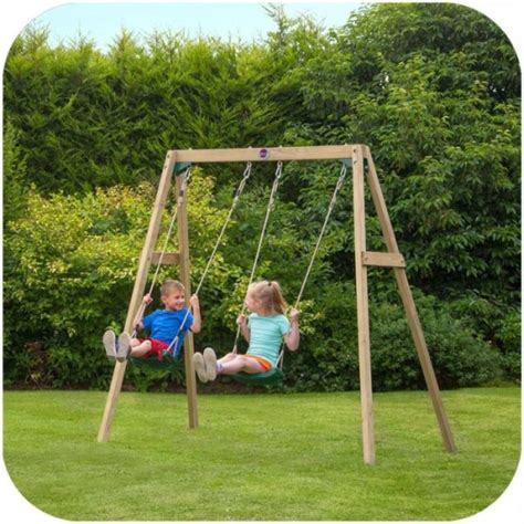 kids double swing plum kids playground double wooden swing set buy outdoor