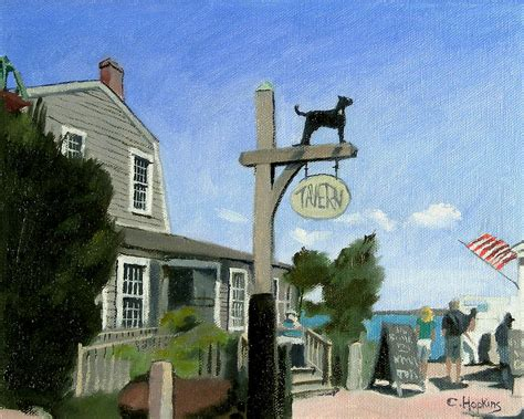black marthas vineyard black tavern martha s vineyard massachusetts painting by christine