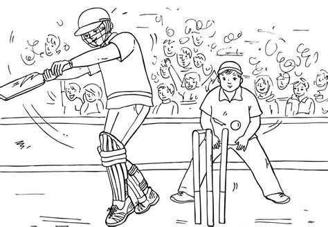 Cricket Colouring Pages Cricket Coloring Pages 1 Coloring Kids by Cricket Colouring Pages