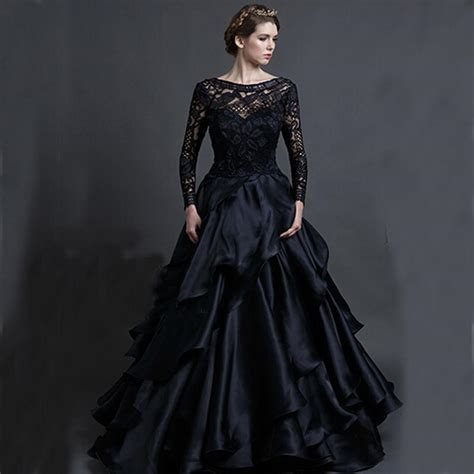 Ballgown Bridal Dress Pesta 4 vintage black wedding gowns sareh nouri 2016