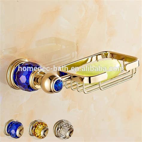 gold coloured bathroom fittings gold color bathroom accessories wall mounted brass soap basket for shower buy brass